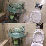 Результат уборки в туалете