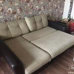 Разложенный диван в комнате