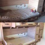 Детская кровать до и после установки