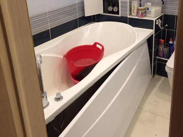Ванная комната до уборки