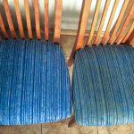 Обивка стульев до и после очистки