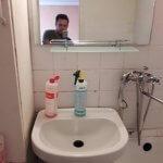 Раковина в ванной комнате после мойки