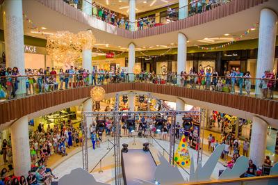 Три этажа торгово-развлекательного центра
