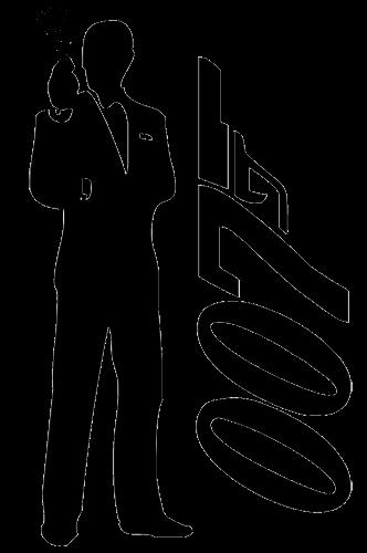 Силуэт агента 007