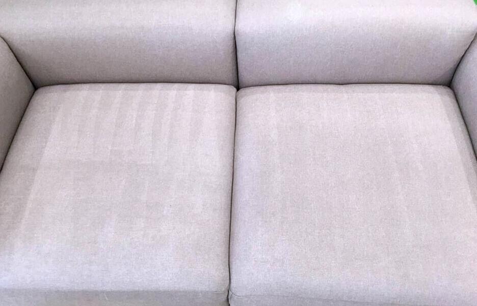 Мягкое диванное покрытие после химчистки