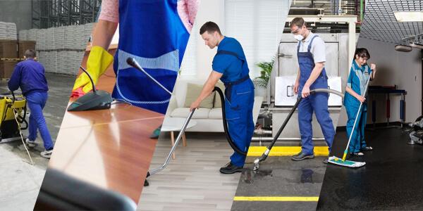 Уборщики моют пол разными способами