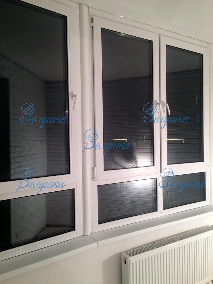 Чистое пластиковое окно после установки