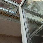 Очищенные рамы пластикового окна
