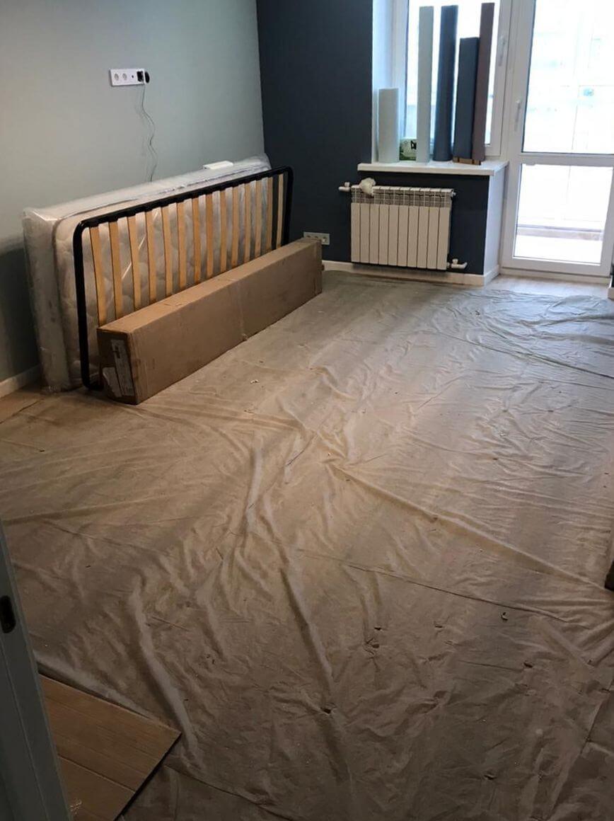 Комната после ремонта перед уборкой