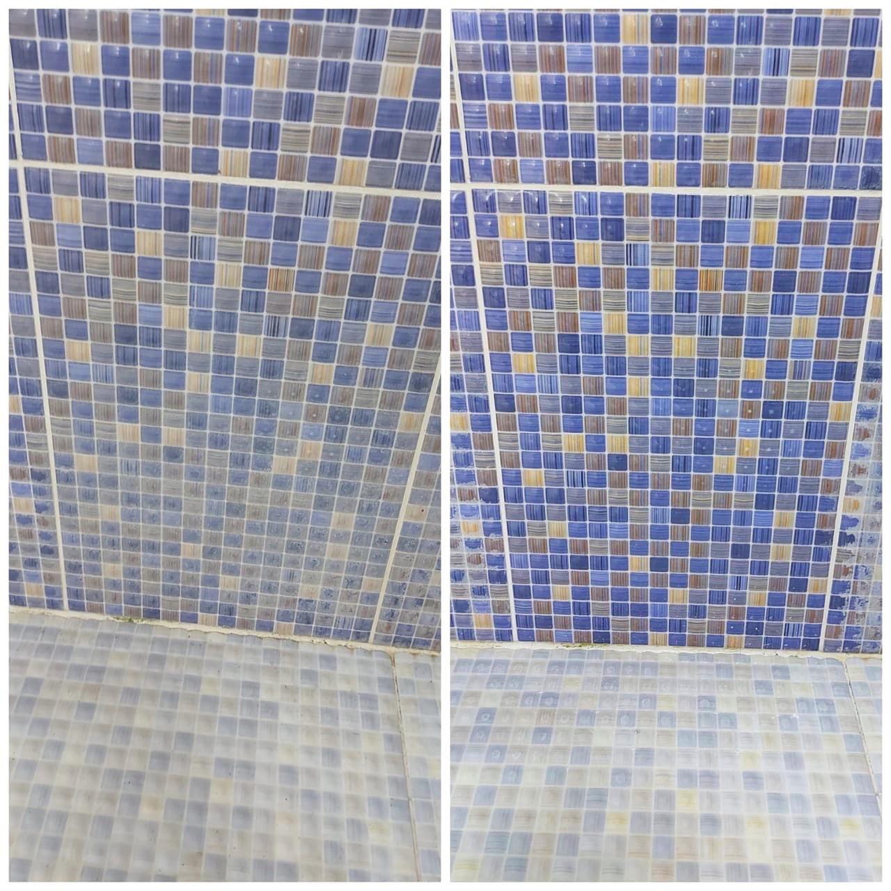 Кафельная плитка до и после чистки