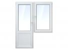 Пластиковое балконное окно и дверь