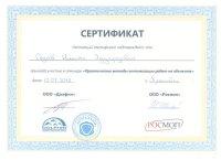 Сертификат участия Золушка